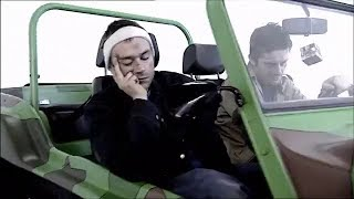 Rarest Footage Of Damon Albarn & Jamie Hewlett Driving The Geep