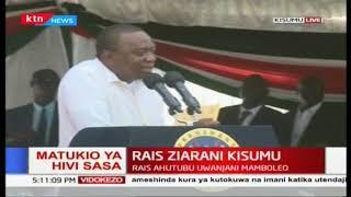 'Tumefika hapa kuungana pamoja nanyi': President Uhuru during Universal Healthcare in Kisumu