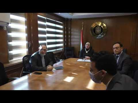 بالفيديو كونفرانس لقاء وزيرة التجارة والصناعة مع رئيس البنك الأفريقى للإستيراد والتصدير
