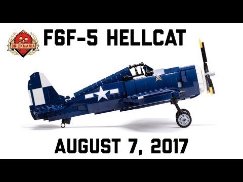F6F-5 Hellcat - Custom Military LEGO - Brickmania TV - imclips net