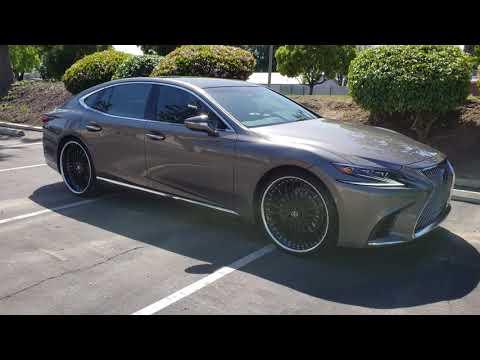 2018 2019 Lexus LS 500 Staggered Black Forged 3 Piece 24 inch wheels 4K