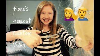 ASMR~ Haircut Role Play ( with hair ) Fiona ASMR's Custom Video ❤️
