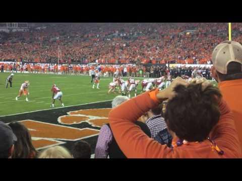 Clemson fans react to winning touchdown vs Alabama