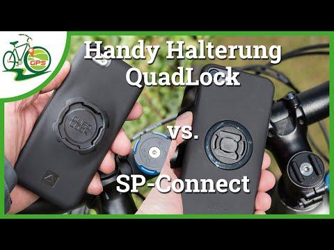 Smartphone Fahrrad Halterung SP-Connect vs. QuadLock