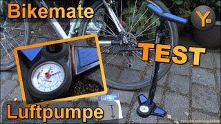 Bikemate Stand-Luftpumpe für Fahrrad-Ventile, Bälle, Schlauchboote, etc (ALDI Süd)