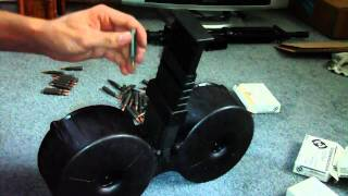 Loading The ARMATAC SAWMAG 150 Round AR15 Drum