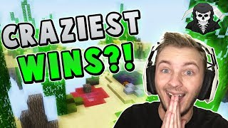 THE CRAZIEST WINS I'VE EVER HAD! ( Hypixel Skywars )