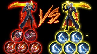 Alucard max lifesteal vs Alucard max critical damage - Mobile legends