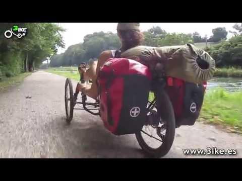 El Canal del Garona en bicicleta reclinada (versión superreducida)