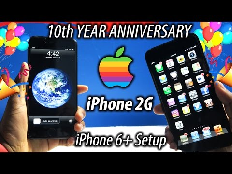iPhone 10th Year Anniversary! (iPhone 6 Plus Nostalgic Setup | History of Phones)
