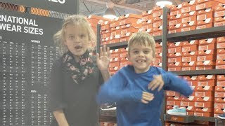 SHOE SHOPPING FOR 3 KIDS | HUNTING FOR DEALS AT NIKE OUTLET, RACK ROOM SHOES, AND FAMOUS FOOTWEAR