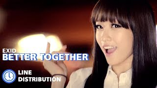 EXID - Better Together  : Line Distribution (Color Coded)