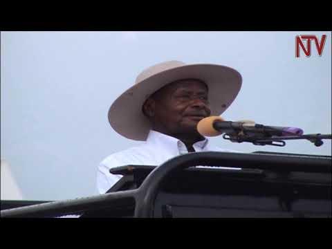Museveni awolerezza eky'okugoba abantu mu birombe