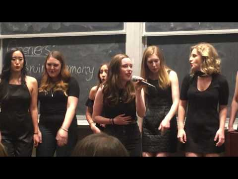 This is a performance of my university a Cappella group. I arranged this song myself.  I'm singing the Black Horse and a Cherry Tree solo.