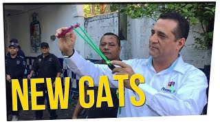 Police Force Given Slingshots in Mexico?! ft. Nikki Limo & Gina Darling