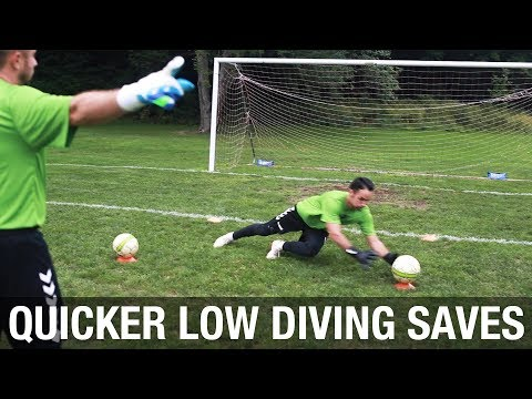 Goalkeeper Low Diving Training For Faster Reactions and More Power