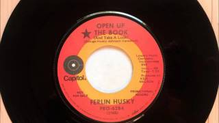 Open Up The Book ( And Take A Look ) , Ferlin Husky , 1971 45RPM