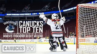 Top 10 Moments from 2015-16 Minor Hockey Weekend
