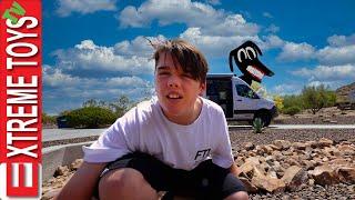 Sleep Over Challenge in a Van! But Cartoon Dog Shows Up!