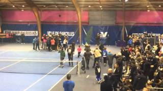 preview picture of video 'Sacre final de l'AAS Sarcelles face au Tennis Club Paris aux interclubs 2014 de tennis'