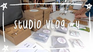 Studio Vlog 04 - Maker Point Of View, Stamping Metal Jewelry, Packing Etsy Orders