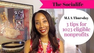 3 quick tips for nonprofits that are 501c3 eligible!!