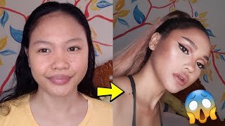 Filipino Version Of ARIANA GRANDE(doppelgänger), Makeuptransformation!| Palaban!