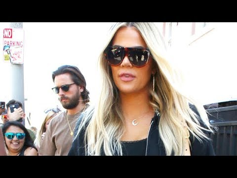 Khloe Kardashian And Scott Disick Swarmed While Shooting In Hollywood