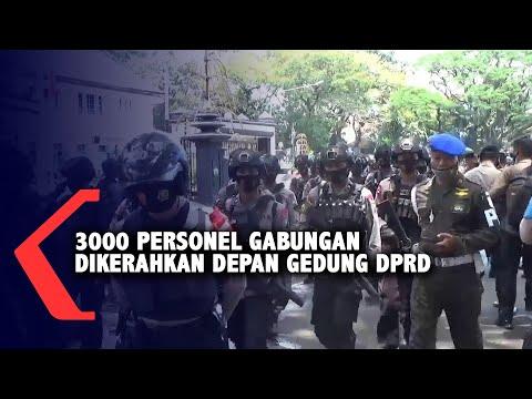 personel gabungan disiagakann antisipasi kerusuhan demonstrasi