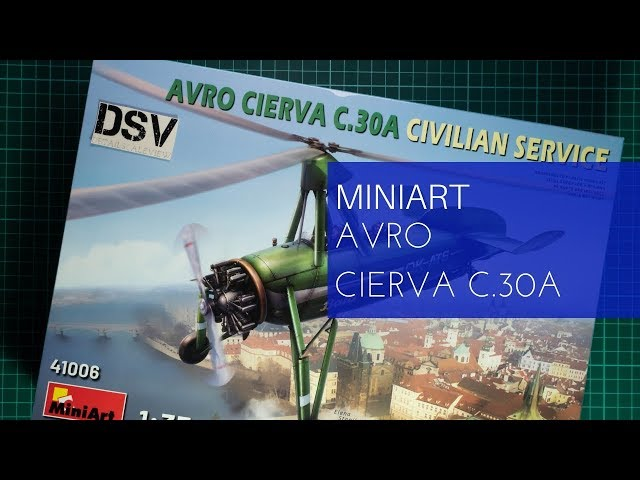 Miniart 1:35 Avro CIERVA C.30A service civil AUTOGIRE Model Kit