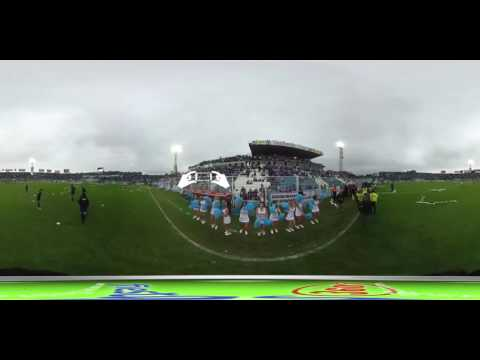 """""""Video 360 - Recibimiento Rollitos y Humo  Atlético Tucumán"""" Barra: La Inimitable • Club: Atlético Tucumán"""