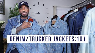 15 DIFFERENT DENIM & TRUCKER JACKETS FOR MENS FASHION | I AM RIO P.