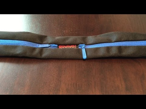 Govivo running belt with reinforced zipper for carrying your phone and keys