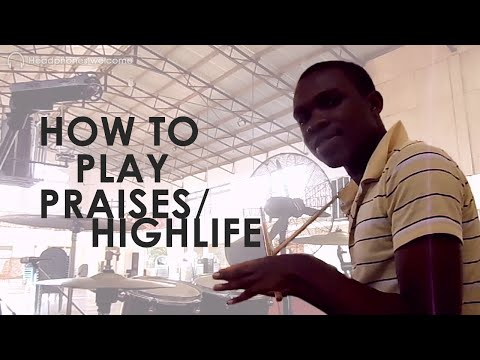 Drum Lesson - How to play Ghanaian praises / highlife Part 1   Jaystiqs