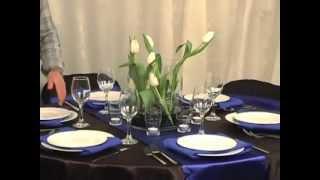 Table Linen Inspiration: Midnight Sapphire Theme