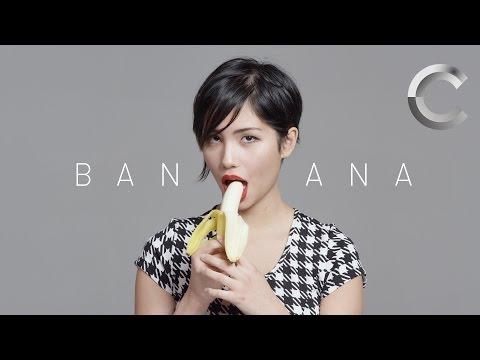 100 People Seductively Eat a Banana