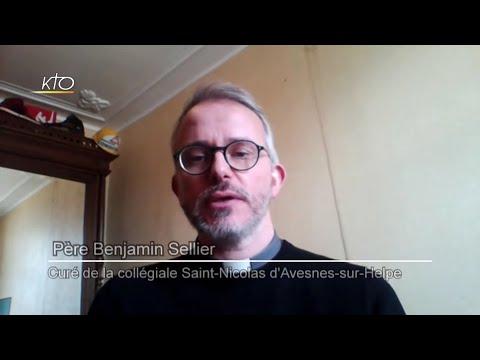 Incendie à la collégiale Saint-Nicolas d'Avesnes-sur-Helpe : Réaction du père Benjamin Sellier