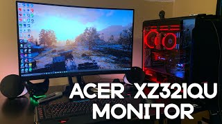 Acer XZ321QU 32 inch Monitor Unboxing, Setup, and Testing