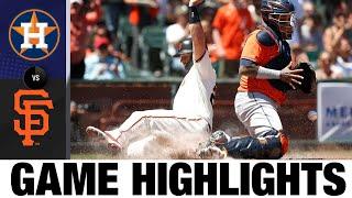 Momenti salienti del gioco Astros vs. Giants (8/1/21)   Punti salienti della MLB