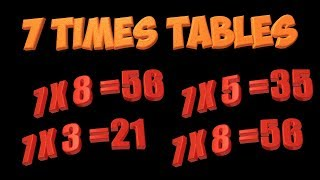 Multiplication Song: Learn The 7's Multiplication Facts
