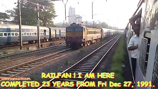 preview picture of video 'RAILFAN! I AM HERE SAYS WCAM-2(PRAGATI EXP COMPLETED 23 YEARS FROM Fri Dec 27, 1991.)'