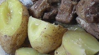 Смотреть онлайн Рецепт приготовления печеной картошки в микроволновке