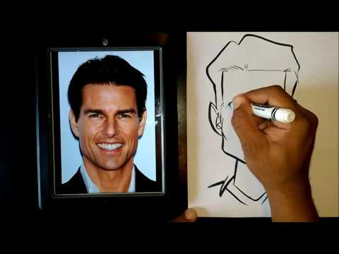 draw a caricature using basic shapes by rowserworld