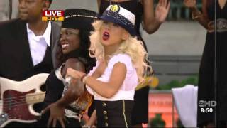Christina Aguilera - Candyman Live  Good Morning America  HD