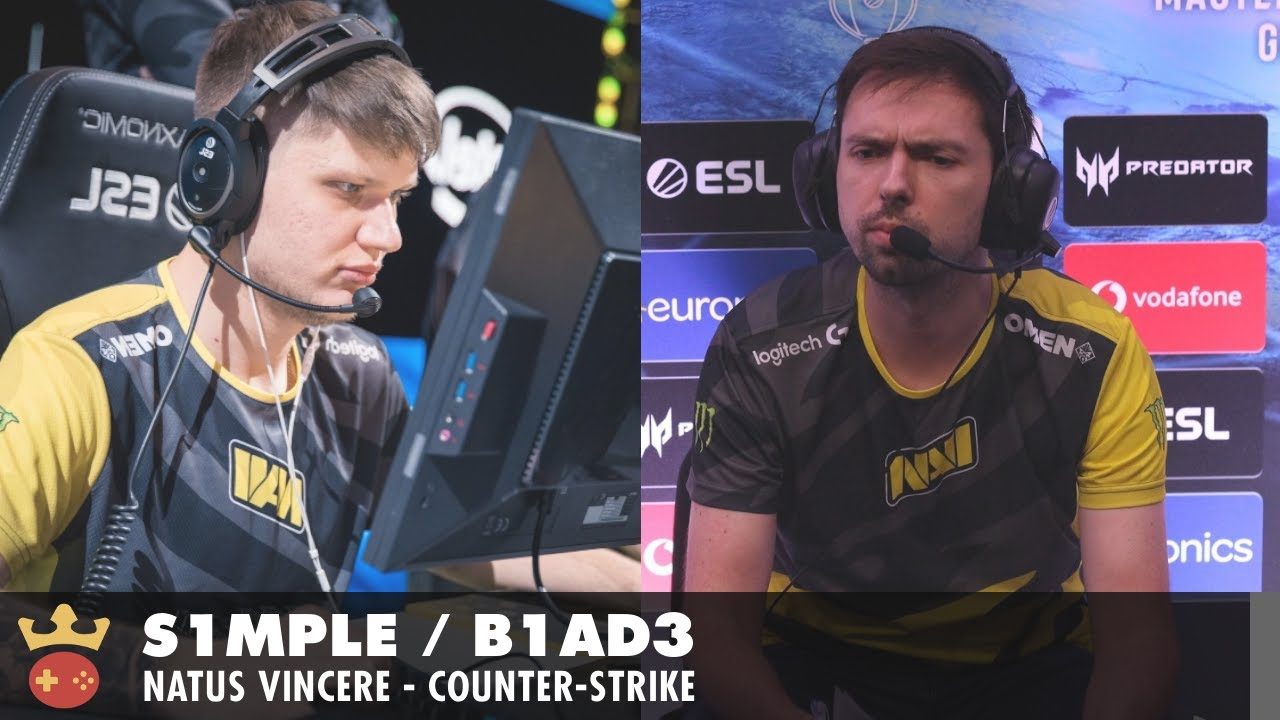Video of Interview with s1mple & b1ad3 from Natus Vincere at IEM Cologne 2021