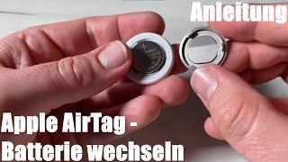 Apple AirTag Batterie wechseln (Knopf Zelle, CR2032 ersetzen) Anleitung