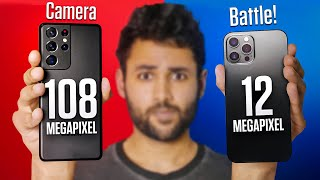 Samsung Galaxy S21 Ultra vs iPhone 12 Pro Max Camera Test Comparison