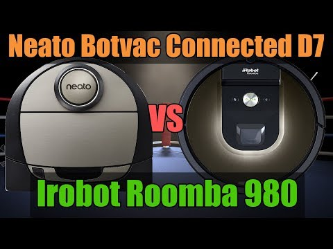 Neato Botvac Connected D7 vs Roomba 980 - Features and Specs Video