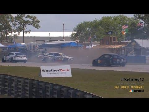 Michelin Pilot Challenge 2019. Sebring International Raceway. Start | Crashes