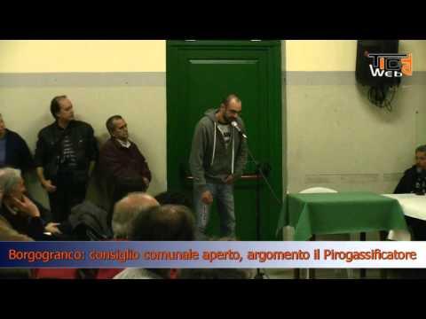Preview video Borgofranco: consiglio comunale aperto argomento Pirogassificatore